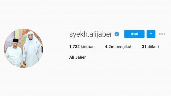 Sosok Pria Di Samping Syekh Ali Jaber Pada Foto Profil Instagram