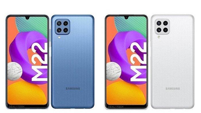 Desain dan Spesifikasi Samsung Galaxy M22, Baterai 6000mAh, Harga Hanya Rp 2 Jutaan