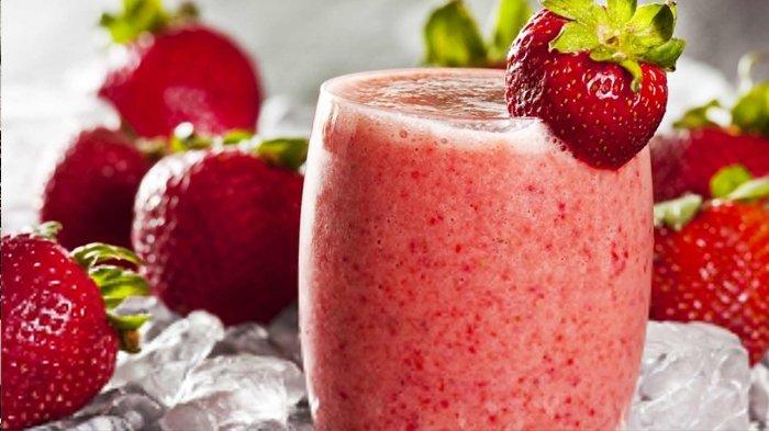Resep Strawberry Smoothies Minuman Menyegarkan Dan Paling Enak Ini Caranya Tribunstyle Com