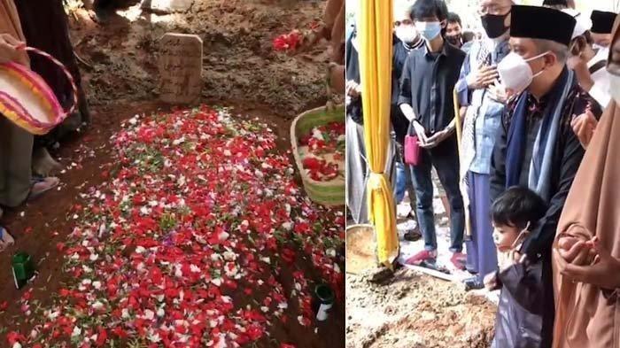 Suasana pemakaman Maaher At-Thuwailibi. (Instagram @yusufmansurnew)