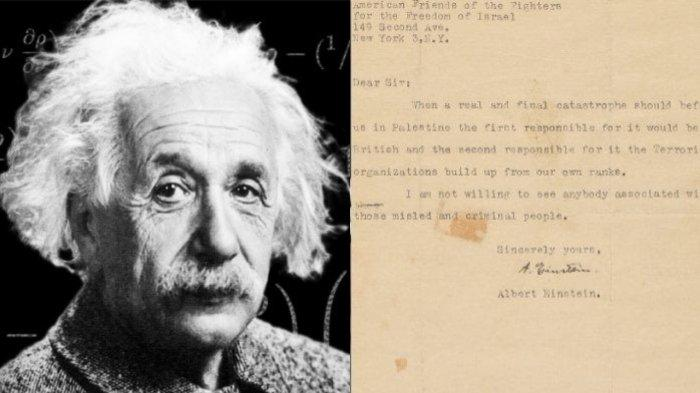 BEREDAR Surat Albert Einstein, Tertulis Prediksi Keruntuhan Israel di Dalamnya: Malapetaka Terakhir