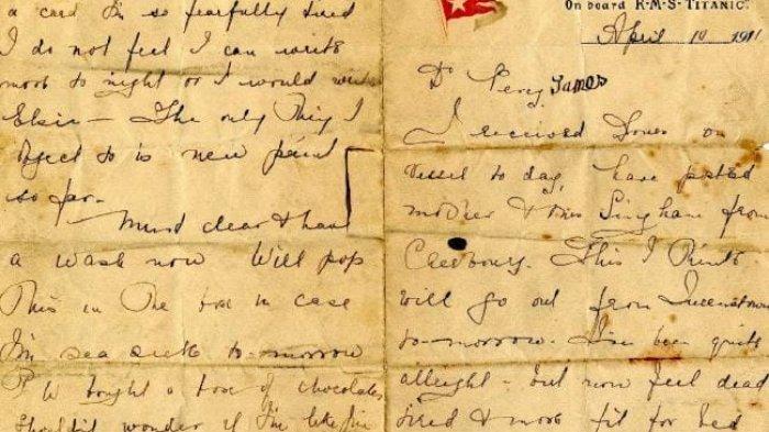 Terungkap Surat Langka Penumpang Titanic, Ungkap Sisi Gelap Kehidupan di Atas Kapal 'Terkutuk'