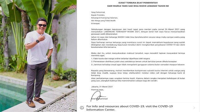 VIRAL Arief Muhammad Kirim Surat Terbuka Untuk Pemerintah, Anya hingga Atta Halilintar Ikut Komentar