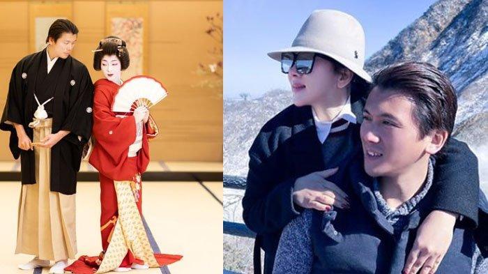 Bikin Pangling, Makeup Tebal Khas Jepang Balut Wajah Syahrini, Reino Barack Pose Mesra Bersama istri