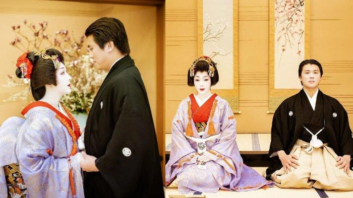 Syahrini dan Reino Barack kenakan baju tradisional Jepang
