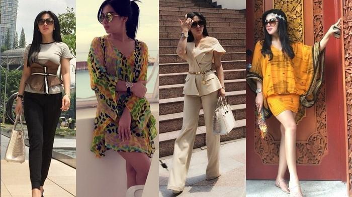 Syahrini tetap fashionable saat traveling.
