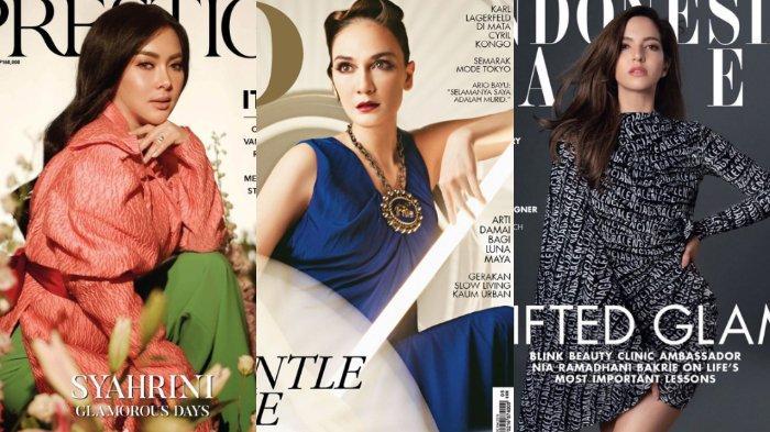 Pesona Cantik Syahrini, Luna Maya dan Nia Ramadhani di Majalah Ternama, Siapa Favoritmu?