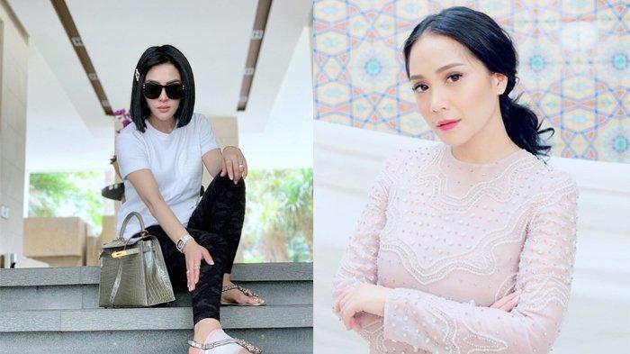 Syahrini & Nagita Slavina Sama-sama Gunakan Headband Bermerek, Lihat Siapa yang Paling Cantik?