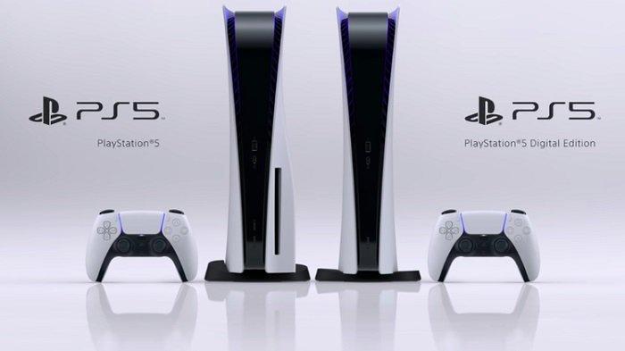 Sony PS5 / PlayStation 5 versi standar dan edisi digital.