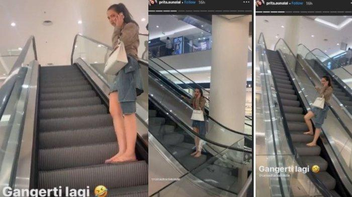 Tak Mau Pulang Nia Ramadhani Lari-larian di Mall Pakai Sandal Jepit & Tenteng Tas Mewah 200 Juta