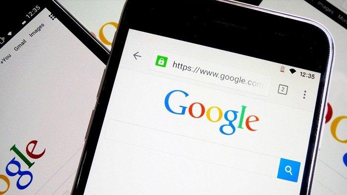 TampilanGoogle Chrome dalam ponsel