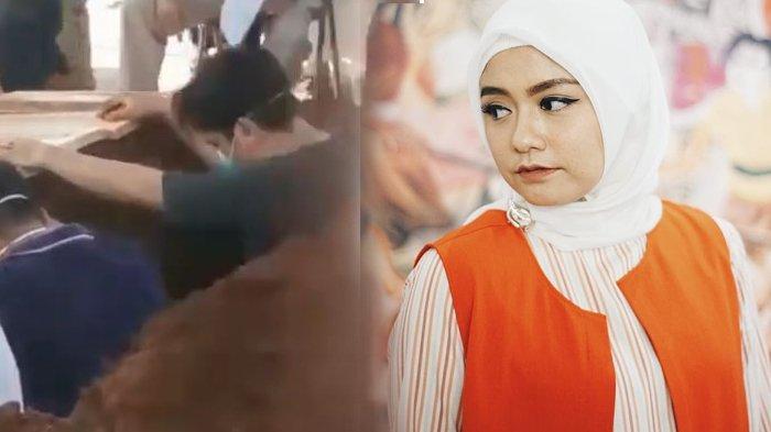 Berduka, Tangis Suami Tika T2 Pecah, Suara Gementar Adzani Sosok Tercinta di Liang Lahat: Ikhlas Ya