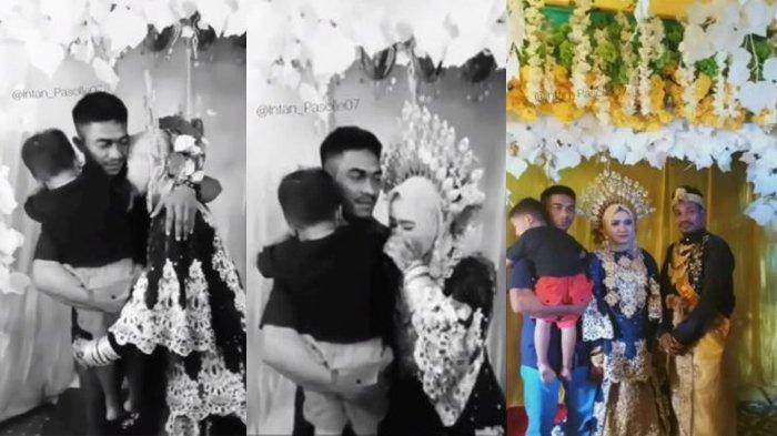 Tangkapan layar momen haru saat seorang mantan suami datang ke pernikahan mantan istrinya