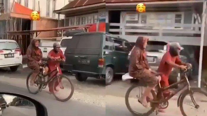 VIRAL Video Romantis Pria 'Meratukan' Wanita Dengan Sepeda, Sederhana Tapi Buat Iri Penonton