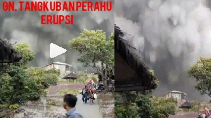 Gunung Tangkuban Parahu Jawa Barat Erupsi, Netter Unggah Video Penduduk Berlarian Selamatkan Diri