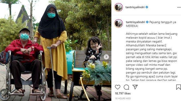 Tantri Syalindri kabarkan kedua orangtuanya sembuh dari Covid-19