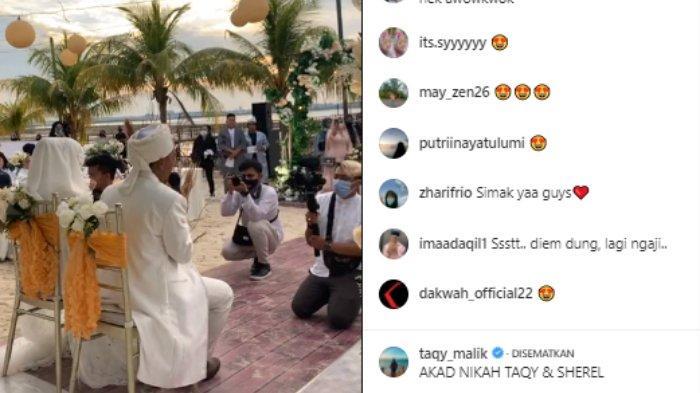 Taqy Malik lantunkan ayat suci Al Quran sebagai hadiah untuk Sherel Thalib