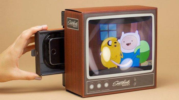 Televisi jadul berkesan retro.
