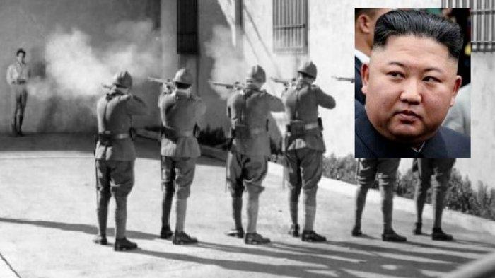 Kim Jong Un dan ilustrasi eksekusi tembak mati