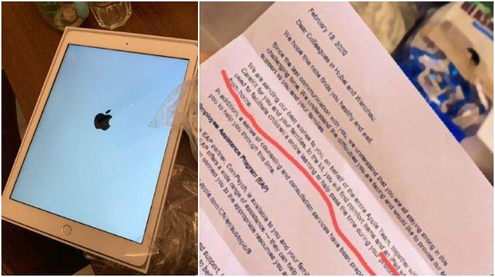 Terisolasi Virus Corona, Karyawan Apple Diberi iPad GRATIS & Bahan Pokok Senilai Rp 5 Jutaan Lebih