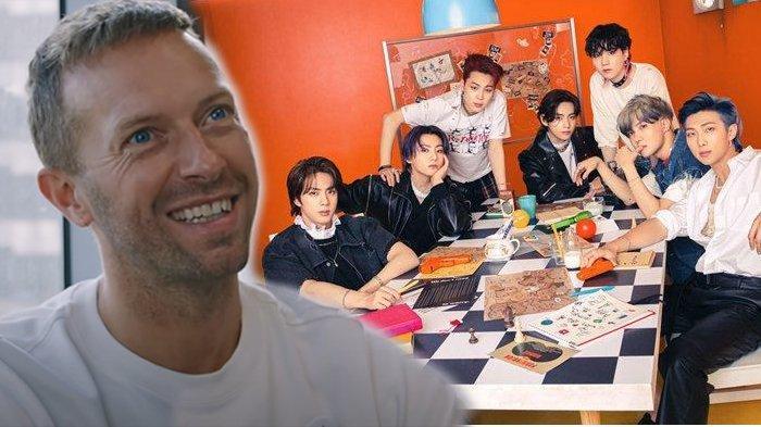 Vokalis Coldplay, Chris Martin Coldplay, dan para member BTS.