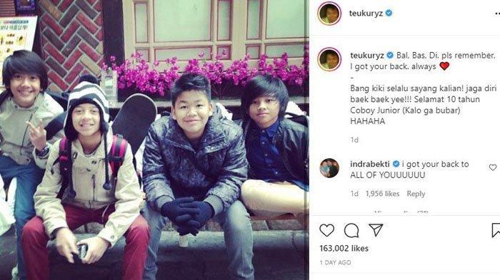 Teuku Rizky unggah potret lawas Coboy Junior, rayakan 10 tahun hari jadi CJR
