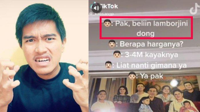 TikTok Kaesang berisi konten minta dibelikan Lamborghini oleh Jokowi