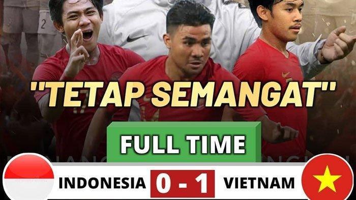 Hasil Pertandingan Timnas U-23 Indonesia vs Vietnam Garuda Muda Kembali Telan Kekalahan Skor 0-1