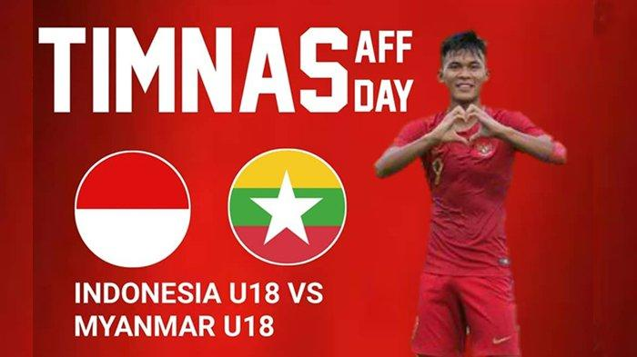 Nanti Malam - Link Live Streaming SCTV Timnas U-18 Indonesia vsMyanmar Piala AFF Pukul 16:30 WIB