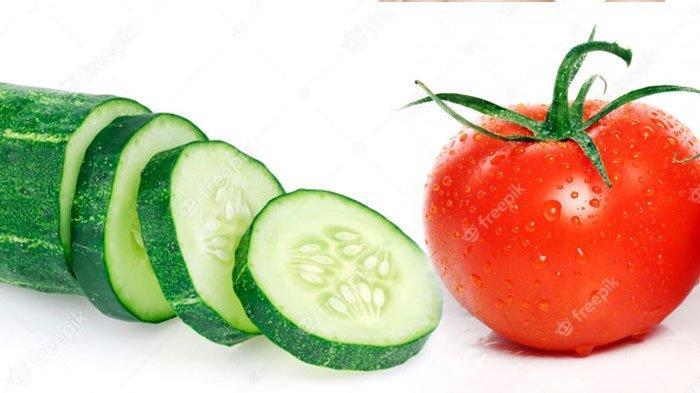 Sama-sama Makanan Sehat tapi Tomat dan Mentimun Sebaiknya Tak Dikonsumsi Bersamaan, Kenapa?