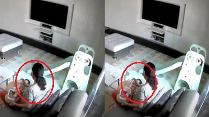 Tingkah tak biasa pengasuh terekam CCTV