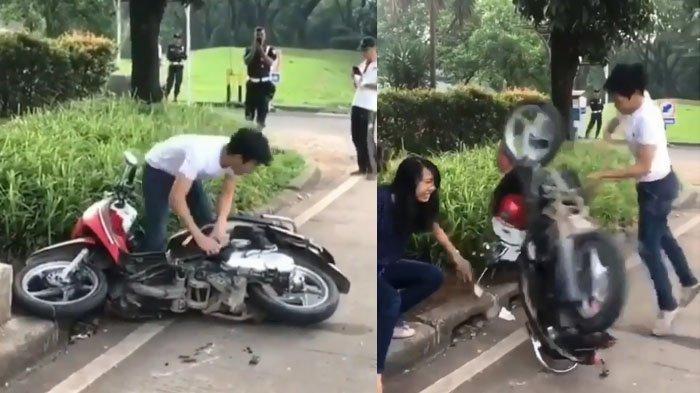 Update Kondisi Terbaru Sepeda Motor yang Dirusak Pengendara di Serpong Tangsel, Tak Terima Ditilang