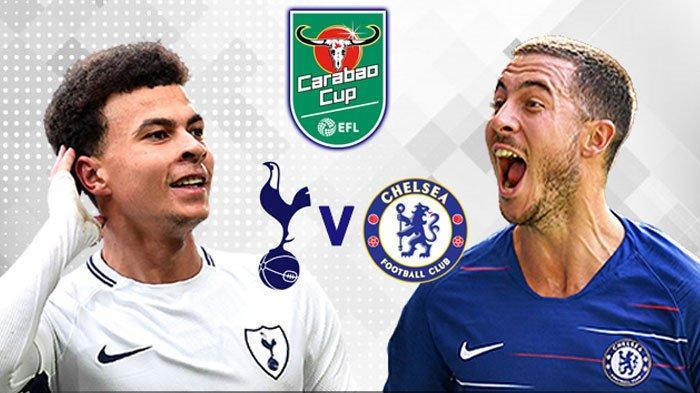 Live Streaming TVRI Chelsea Vs Tottenham Hotspur Carabao Cup 2019 Jumat Dini Hari Jam 02.15 WIB