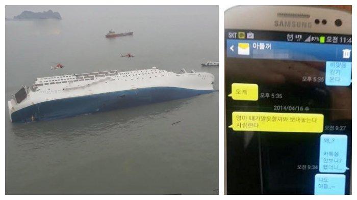 Tragedi 250 Siswa Korea Selatan Tenggelam Karena Kapal Karam, Sempat Rekam & Kirim Pesan Pada Ibunya