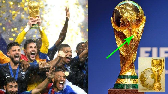5 Fakta Menarik Trofi Piala Dunia 2018, Ternyata Sosok Inilah yang Terukir Menggengam Bumi