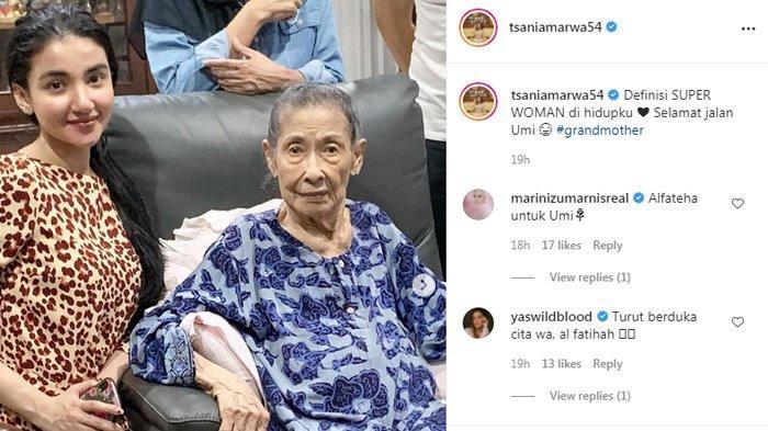Tsania Marwa bagikan kabar duka.