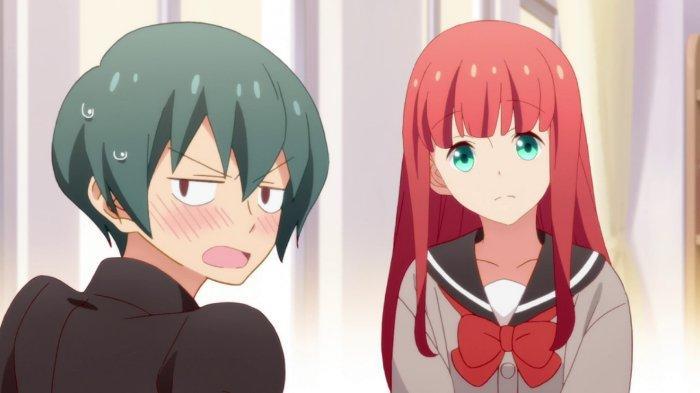Kana Ijima dan Chiaki Uchimura di anime Tsurezure Children
