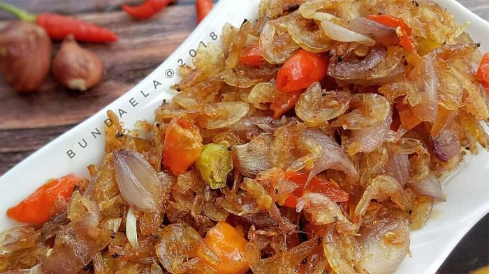 Resep Tumis Bawang Rebon Sajian Spesial Untuk Makan Malam Bersama Keluarga Tercinta Tribunstyle Com