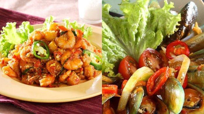 KUMPULAN Resep Masakan Seafood Untuk di Rumah, Tumis Udang, Kerang Saus Padang, Cumi Lada Hitam