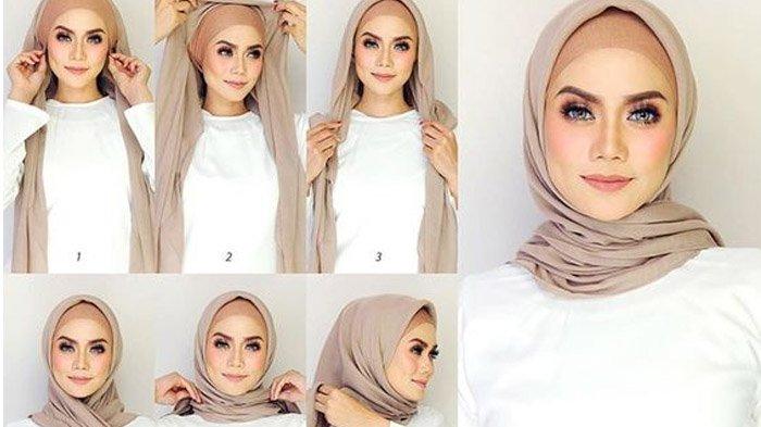 Tutorial Hijab Inilah 5 Model Khimar Terkini Dan Praktis Cocok Untuk Ke Kampus Atau Kantor Halaman 2 Tribunstyle Com
