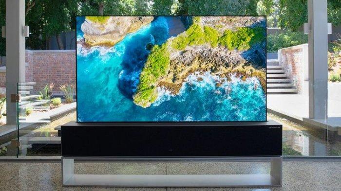 CANGGIH! LG Jual TV Pertama di Dunia yang Bisa Digulung Seharga Rp 1,2 Miliar, Begini Wujudnya