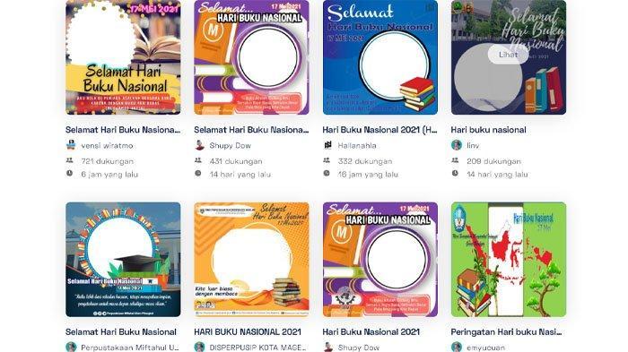 25 Link Download Kartu Ucapan Selamat Hari Buku Nasional 17 Mei 2021 di Twibbon, Ini Cara Membuatnya