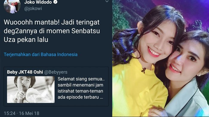 Tak Tega Admin Twitter Jokowi Dipecat Karena Cuit Soal Grupnya, Anggota Cantik JKT48 Angkat Bicara!