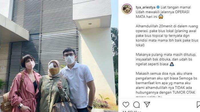 Tya Ariestya kabarkan sang ibunda baru saja jalani operasi mata