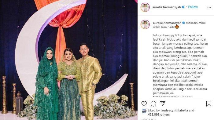 Unggahan Aurel Hermansyah dengan Krisdayanti dan Azriel.
