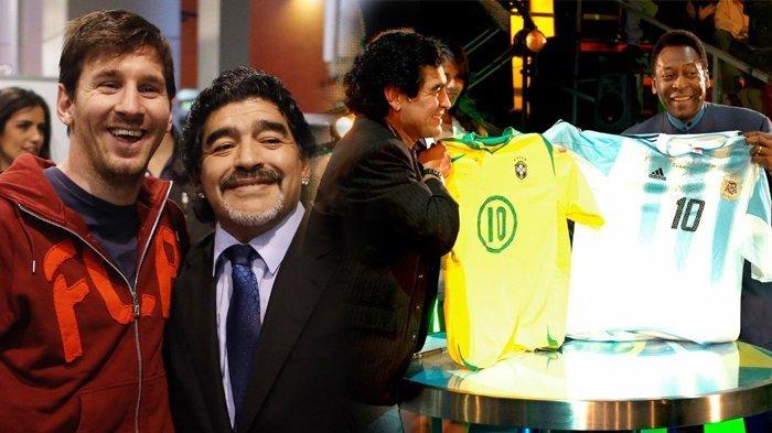 Maradona Tutup Usia, Ungkapan Penghormatan Mengalir dari Messi, Ronaldo, hingga Sesama Legenda, Pele