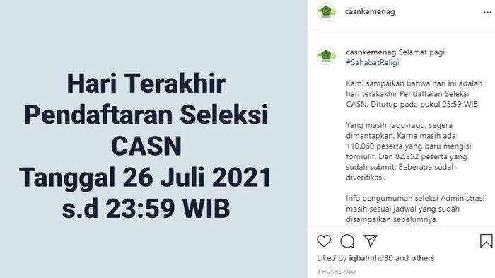 Update informasi CPNS 2021 Kementerian Agama (Kemenag).