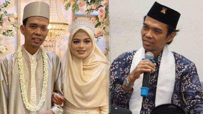 ROMANTISNYA Fatimah Az Zahra & Abdul Somad di Sela Resepsi, Perlakuan Istri ke UAS Terekam Kamera