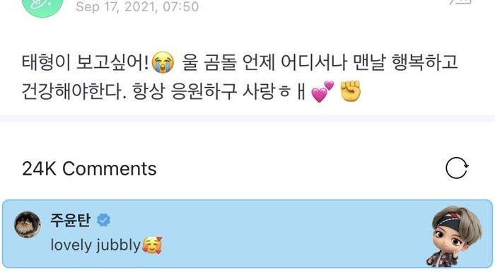 V BTS sapa ARMY pakai bahasa gaul Inggris atau British slang, 'lovely jubbly'.