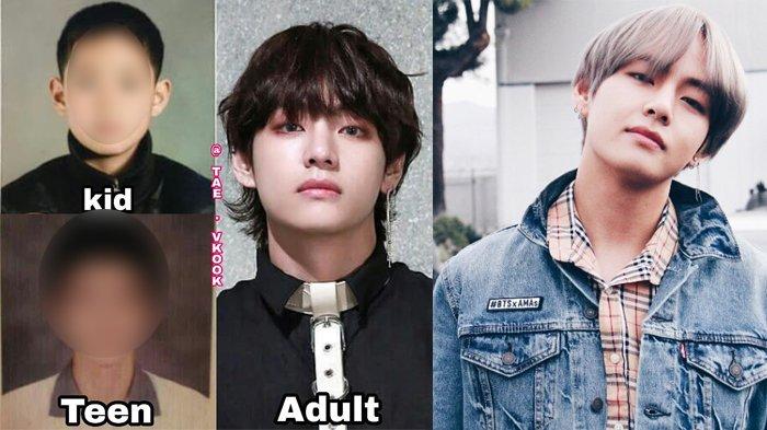 Beredar Foto-Foto Transformasi V BTS, Fans Ngakak Lihat Potongan Rambutnya Saat Sekolah!